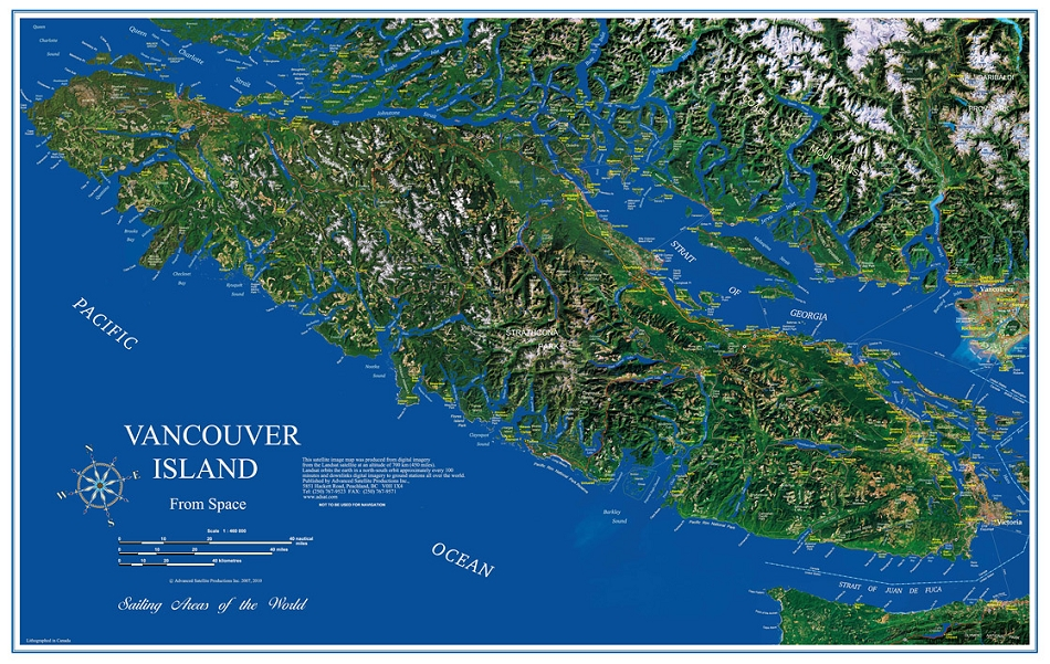 Vancouver Island Elevation Maps